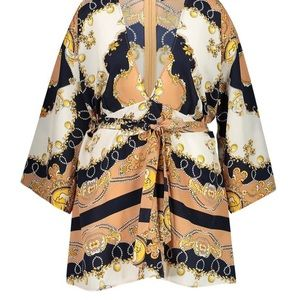 Dresses & Skirts - Vintage Silk Kimono Wrap Dress